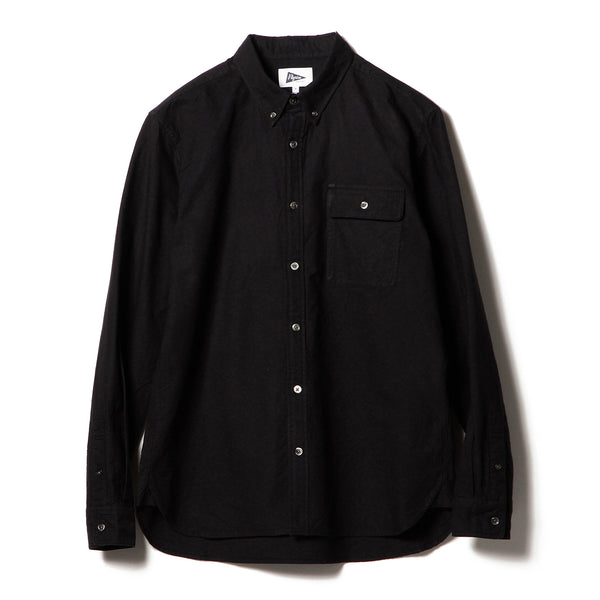 BUBBIE BUTTON DOWN OXFORD, BLACK