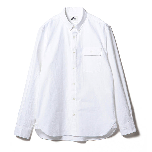 BUBBIE BUTTON DOWN OXFORD, WHITE
