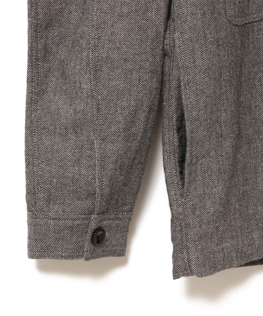 CHILTON WOOL LINEN HERRINGBONE SHIRT JACKET