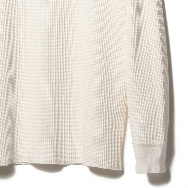 WARREN THERMAL WAFFLE TEE, OFF WHITE