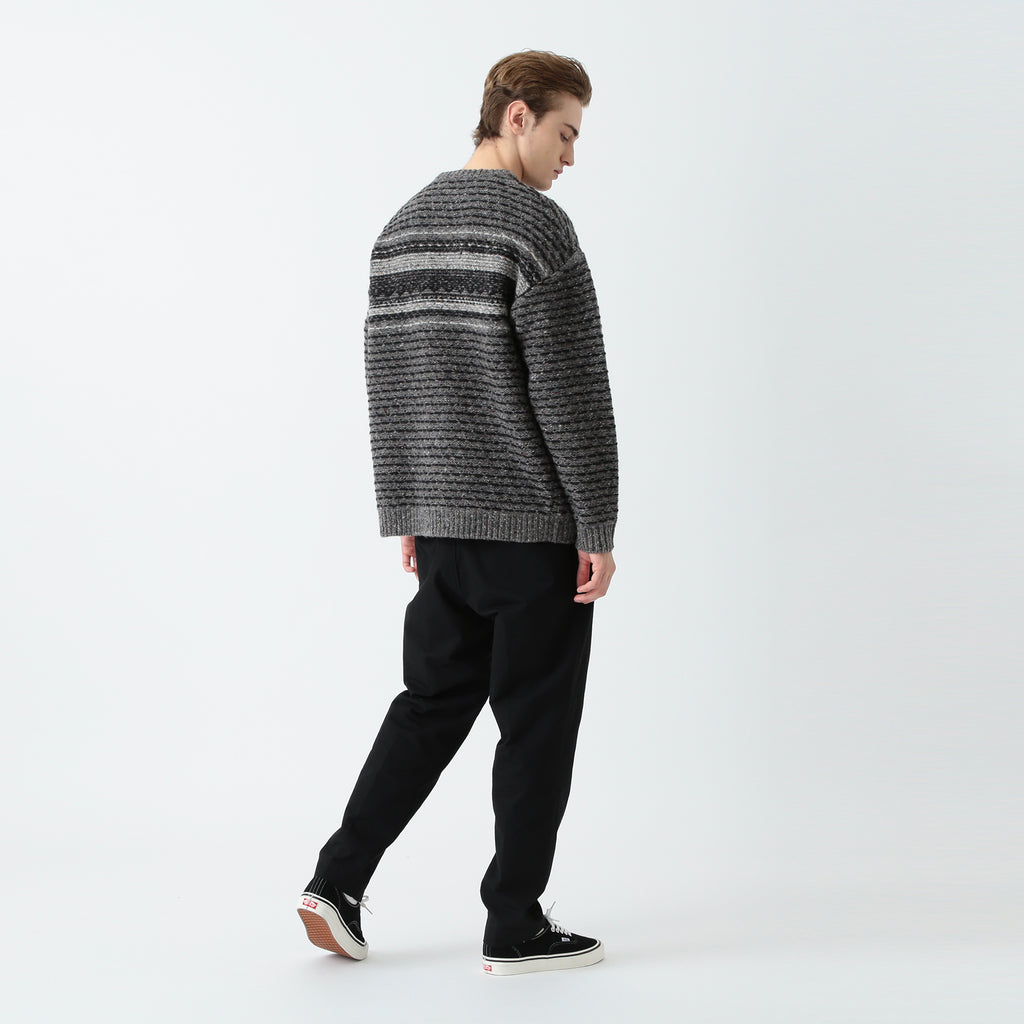 SEELE REVERSE FAIR ISLE SWEATER