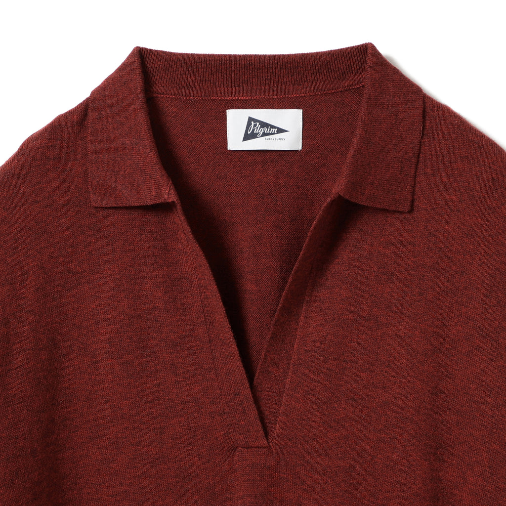 Zuri Open Collar LS Polo