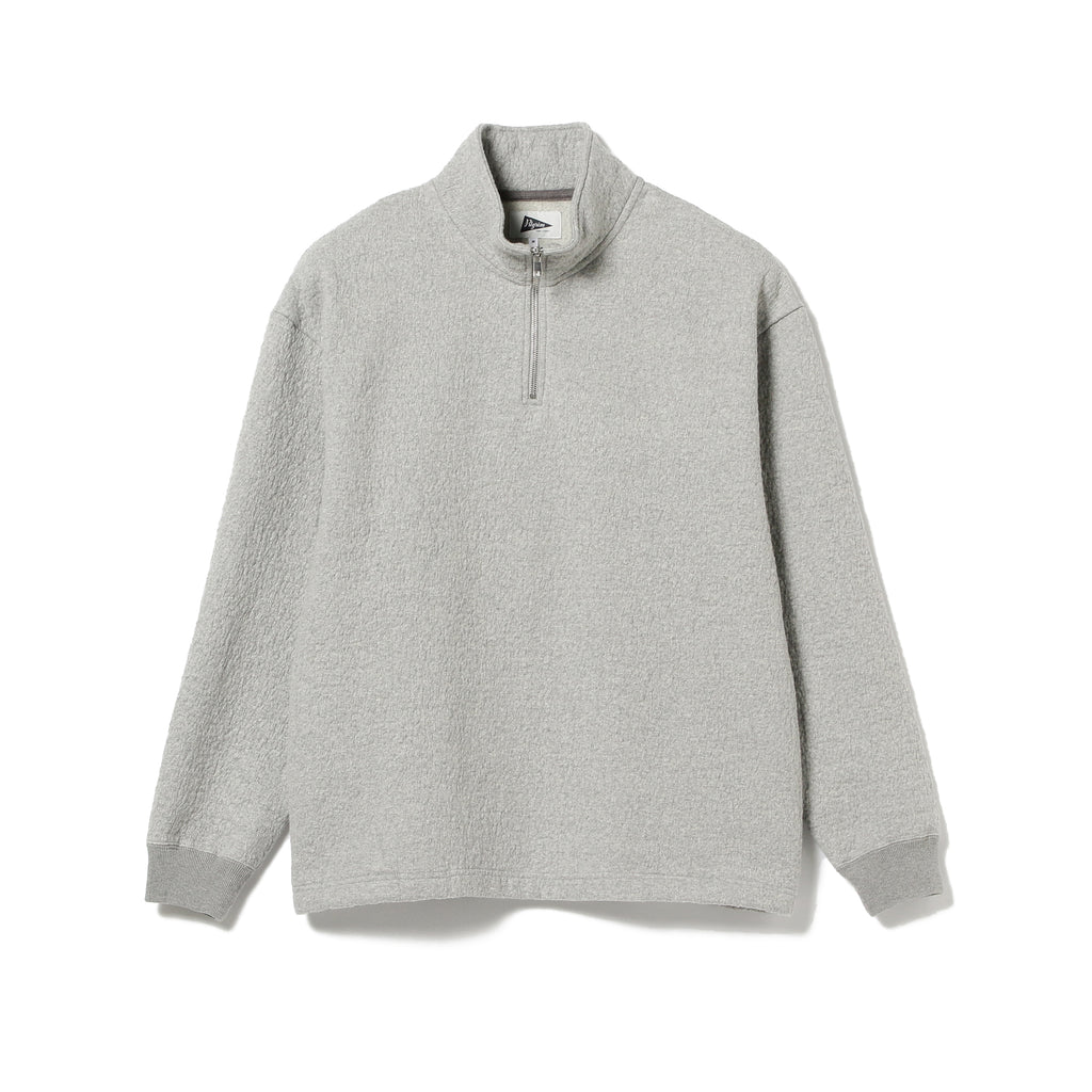 LOGO DOUBLE JACQUARD CREW, OFF GREEN