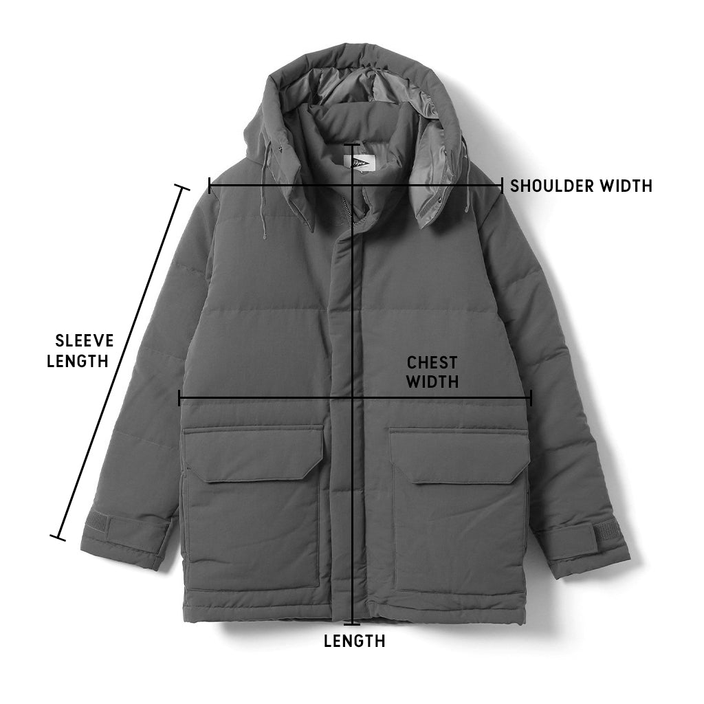 Men's Outerwear Size Guide
