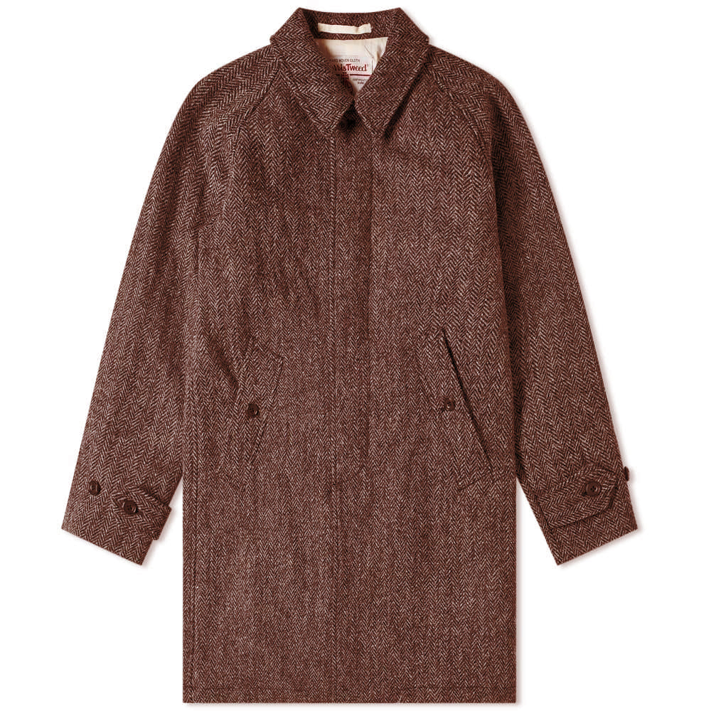 BEAMS+ HARRIS TWEED BALMACAAN COAT