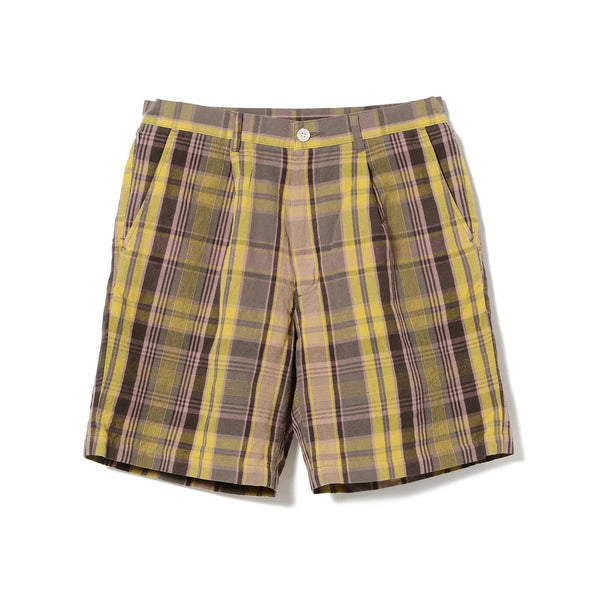 LONDON PLEATED MADRAS SHORT