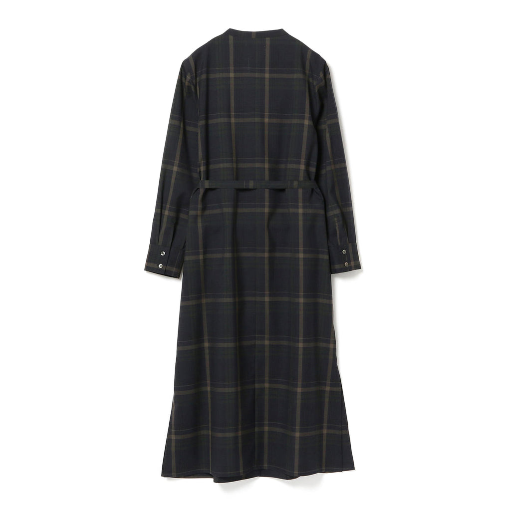 MARTA WOOL PLAID MIDI DRESS