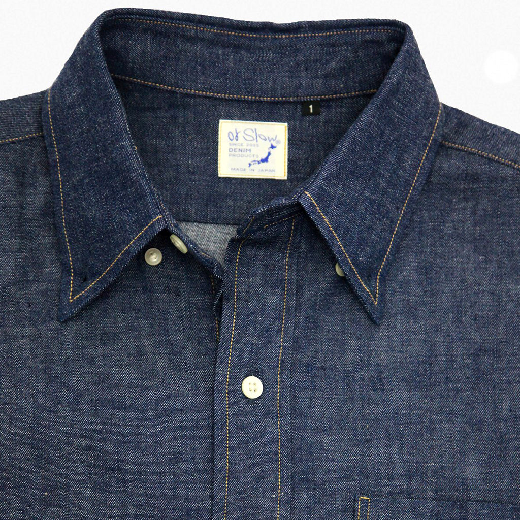 ORSLOW BUTTON DOWN DENIM SHIRT