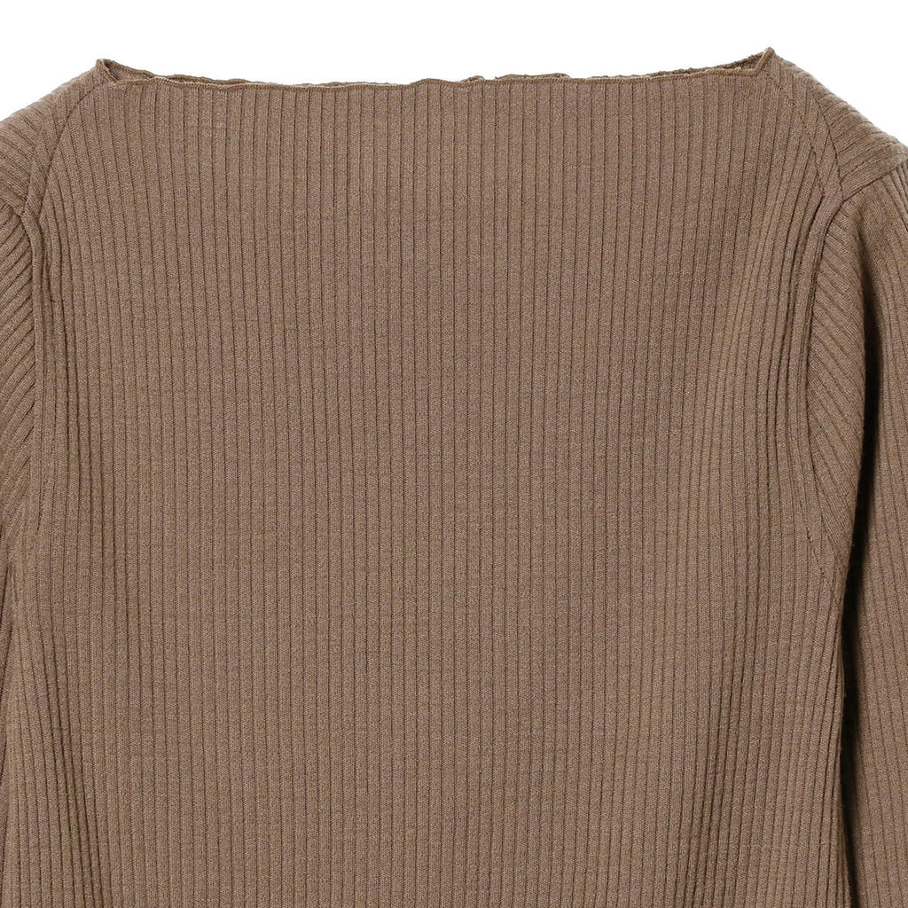 PAIT WOOL RIB BOATNECK SHIRT
