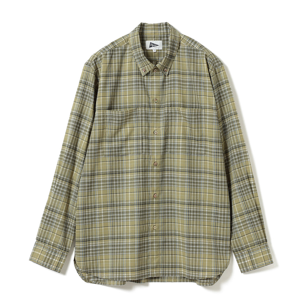 PAYNE PLAID SUMMER WOOL BUTTON DOWN SHIRT