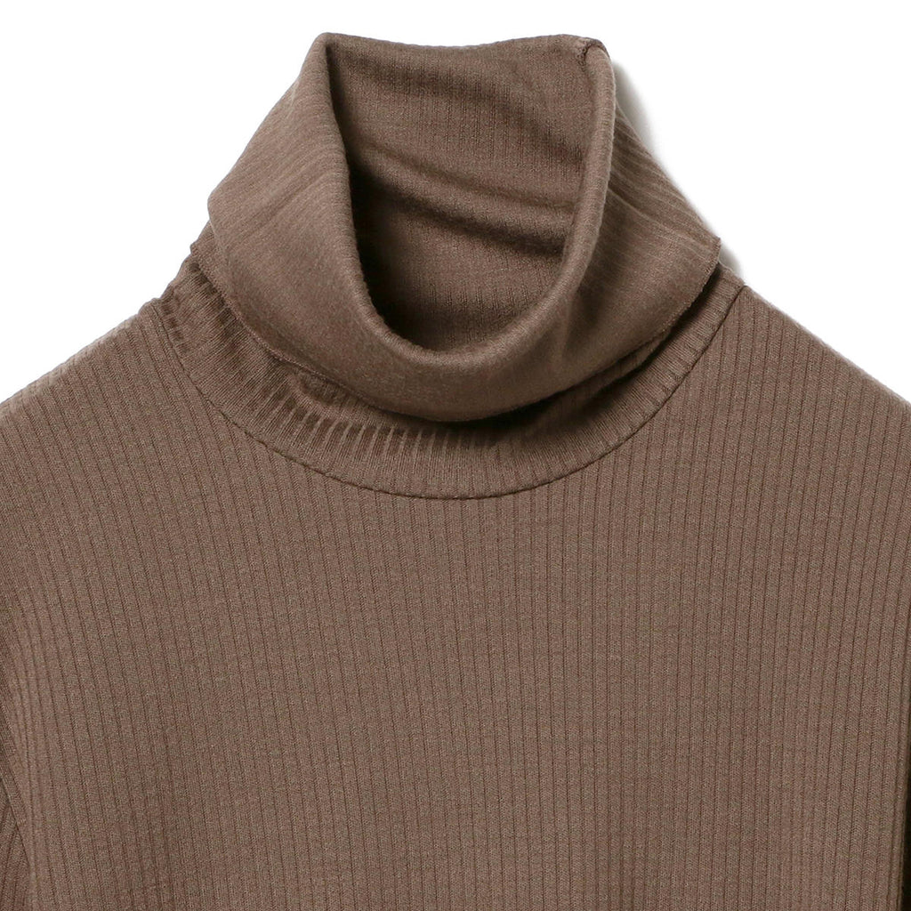 POPPY WOOL RIB TURTLENECK