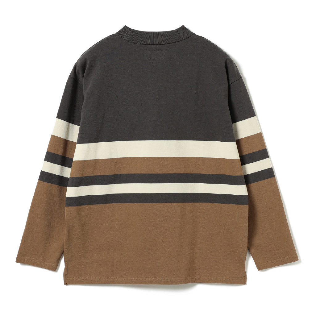 ROHAN COTTON STRIPE MOCKNECK TEE