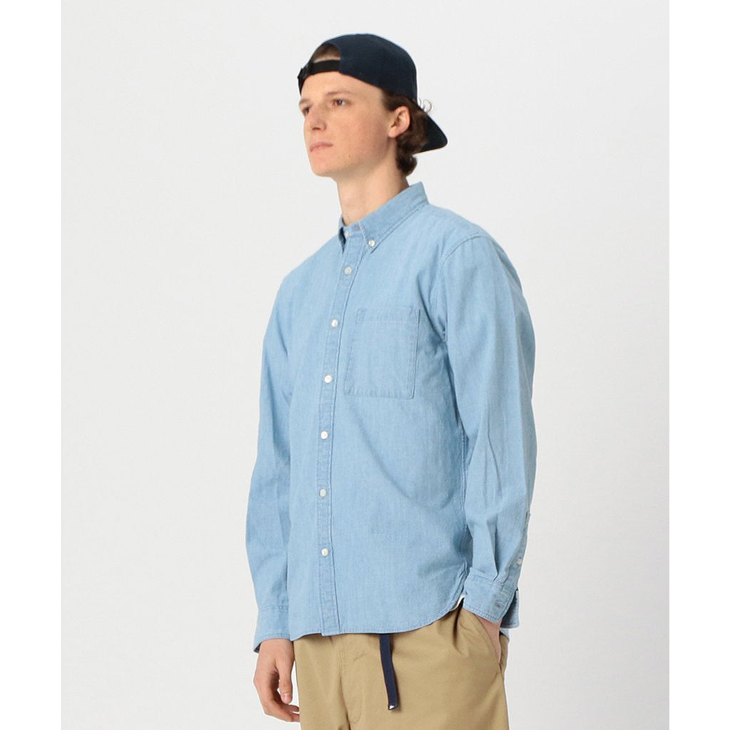 TRENT BUTTON DOWN INDIGO CHAMBRAY SHIRT