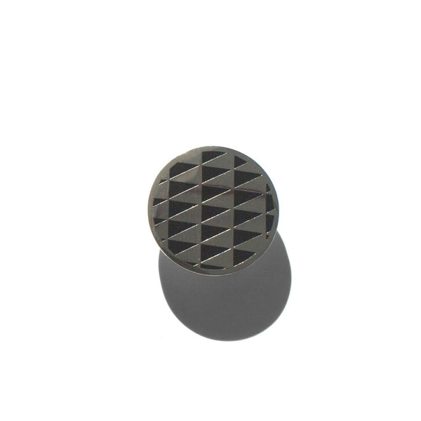 PENNANT CHECKERBOARD PIN, BLACK