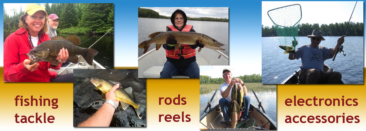 We sell fishing tackle, rods, reels, electronics and fishing accessories.