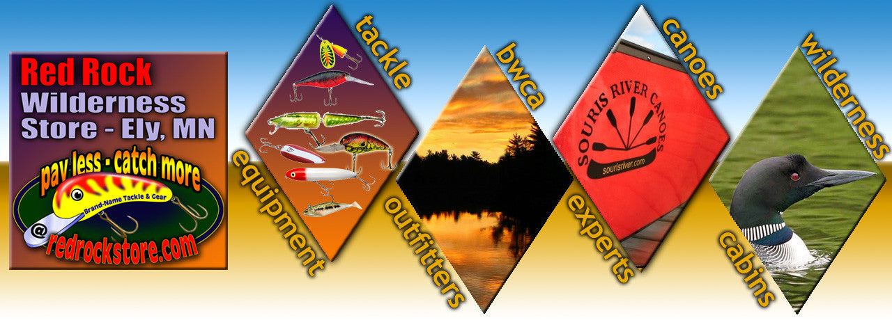 Red Rock is your Boundary Waters Canoe Area experts for fishing, camping, Souris River Canoes, and wilderness cabin rental at Ely, Minnesota.  Not only are we online, we are for real!