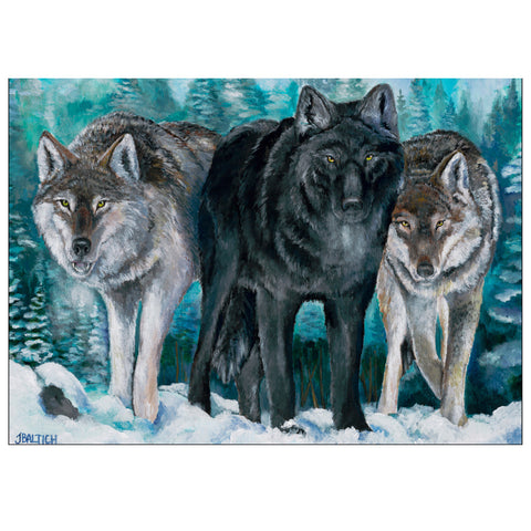 Winter Wolves Gloss Greeting Cards
