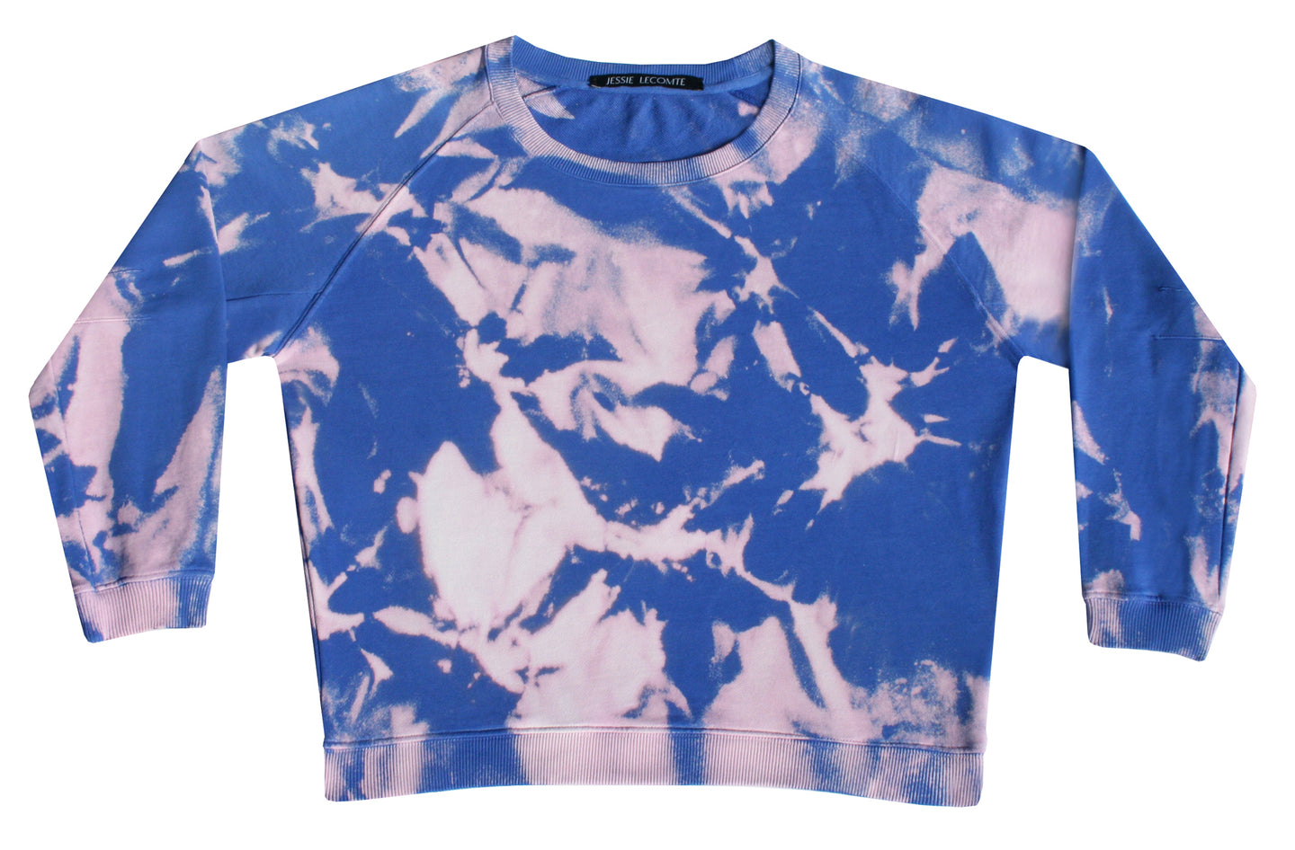 Tie-dye sweater Vivid blue