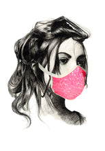 Load image into Gallery viewer, Mask sequins fluo pink