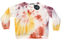 Load image into Gallery viewer, Tie-dye sweater light pink, yellow, cognac