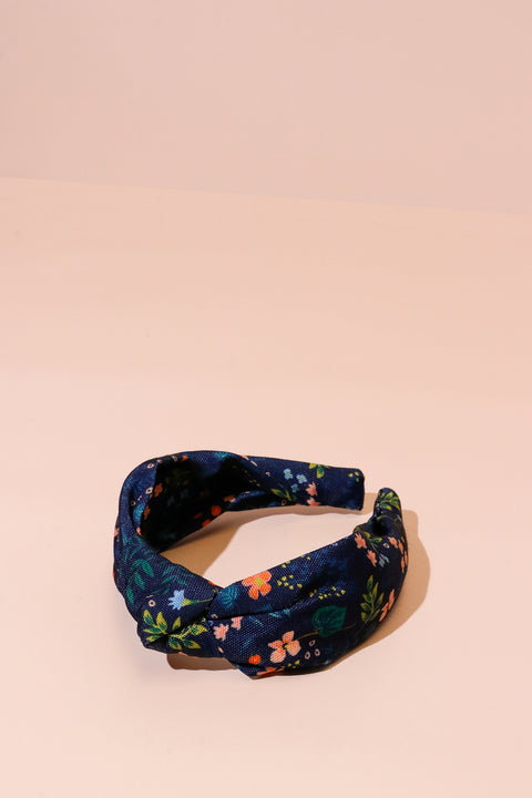 Rifle Knotted Headband - Navy