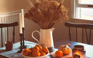 Fall Farmhouse Home Decor And Front Porch Halloween Pumpkin Decoration