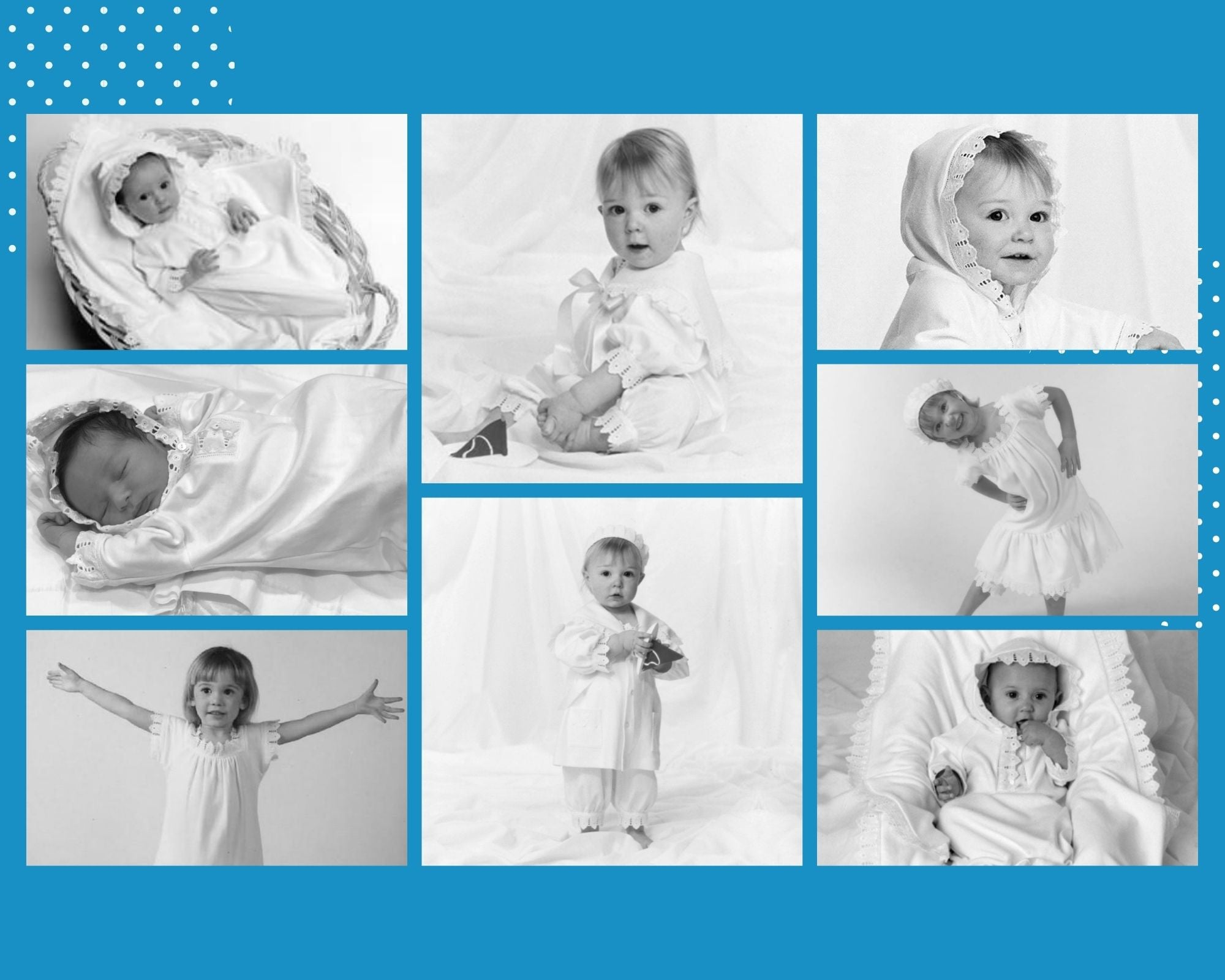 White Lace Children's Clothing for Family Portraits and Baby Photos