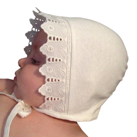 Antique-Style-Baby-Bonnet-With-Lace