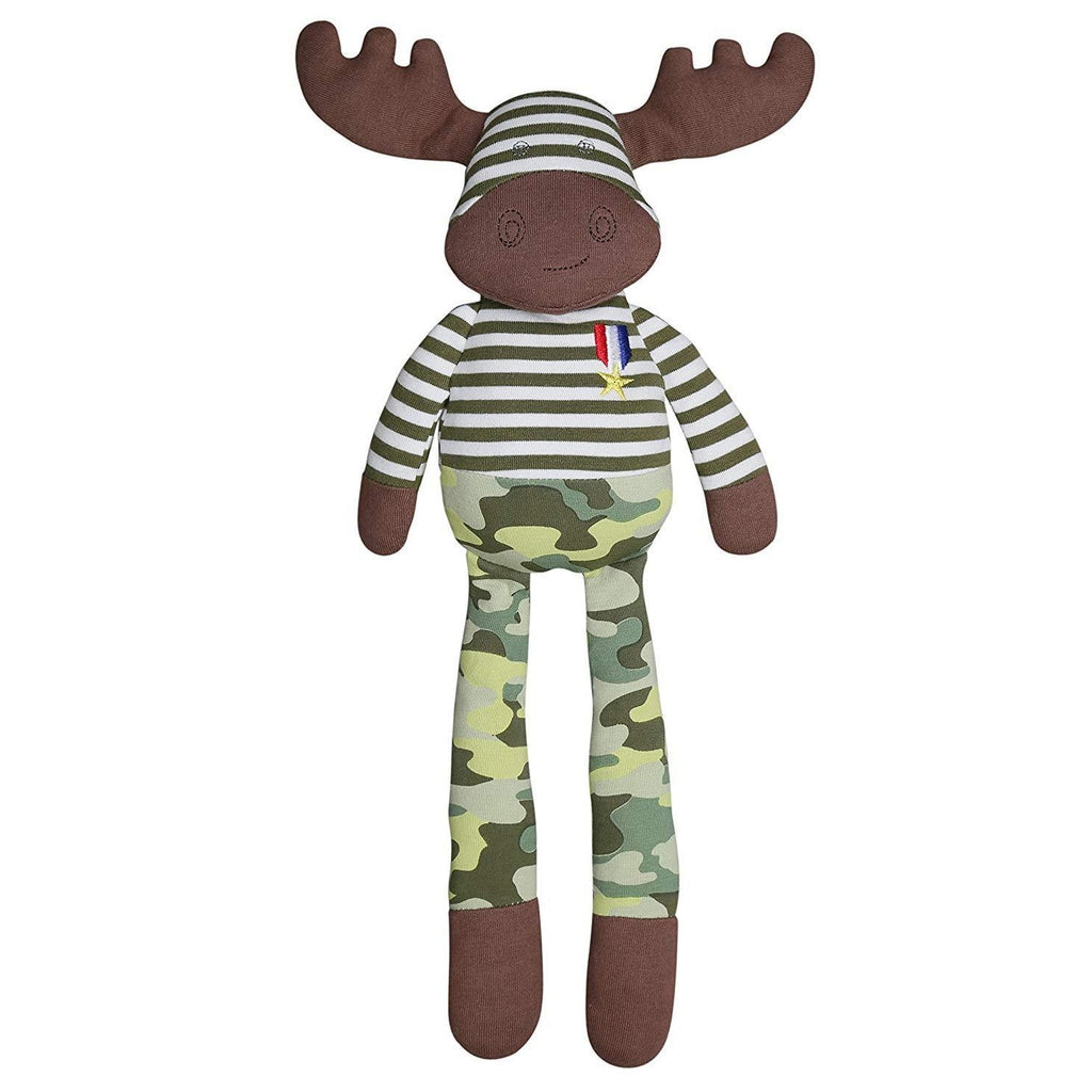 Apple Park Organic Farm Buddies - Marshall Moose Plush Baby Toy
