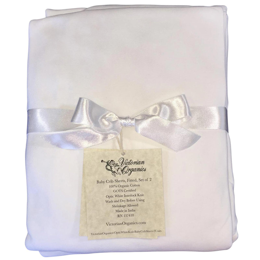 Baby-Shower-Gift-Organic-White-Crib-Sheet
