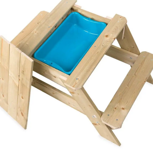 Kids Wooden Picnic Table and Sandpit Play Station 2