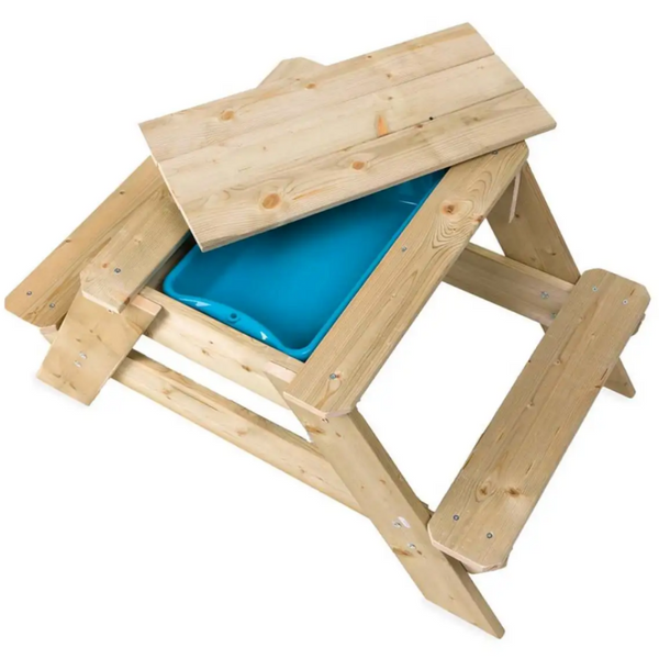 Kids Wooden Picnic Table and Sandpit Play Station 4