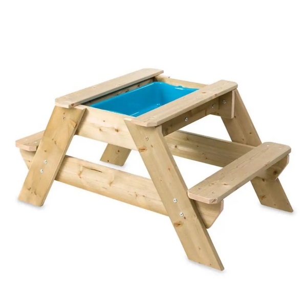 Kids Wooden Picnic Table and Sandpit Play Station 5