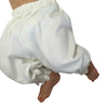 Victorian Baby Pantaloon - White Lace Organic Cotton Long Pant