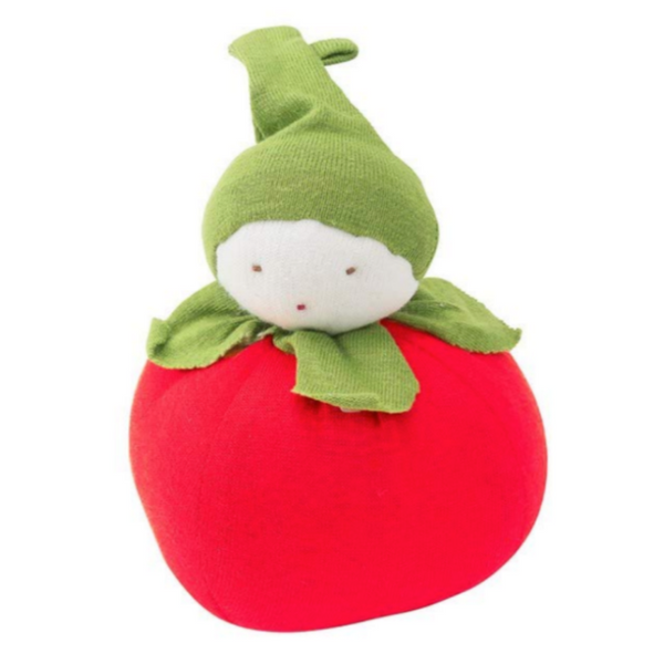 Under the Nile Organic Cotton Baby Teething Toy - Tomato