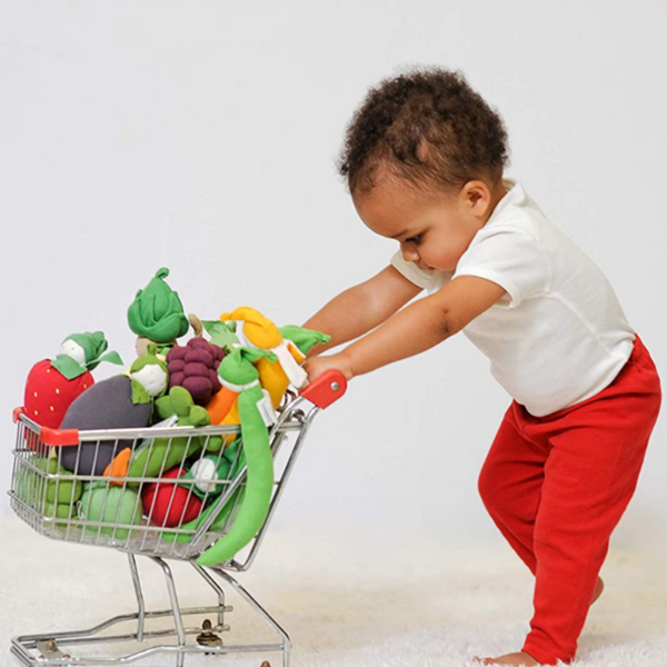 Under the Nile Teething Toys with Baby and Shopping Cart