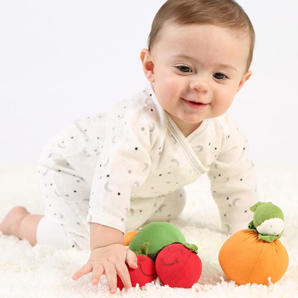 Under the Nile Organic Cotton Teething Toys with Crawling Baby