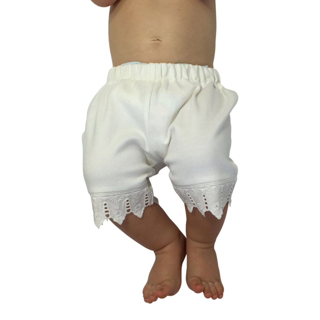 Victorian Organics White Bloomer on Baby