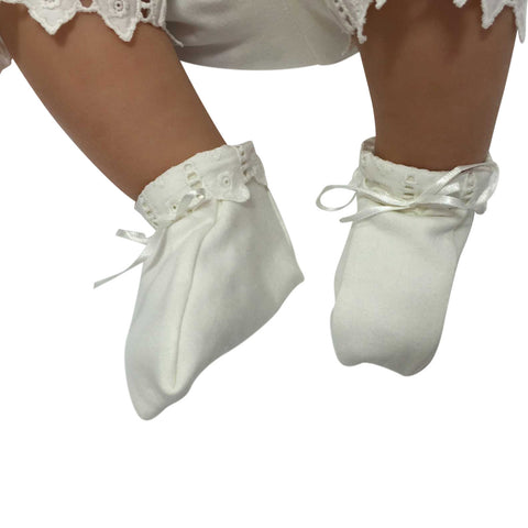 Victorian Organics White Christening-Shoes