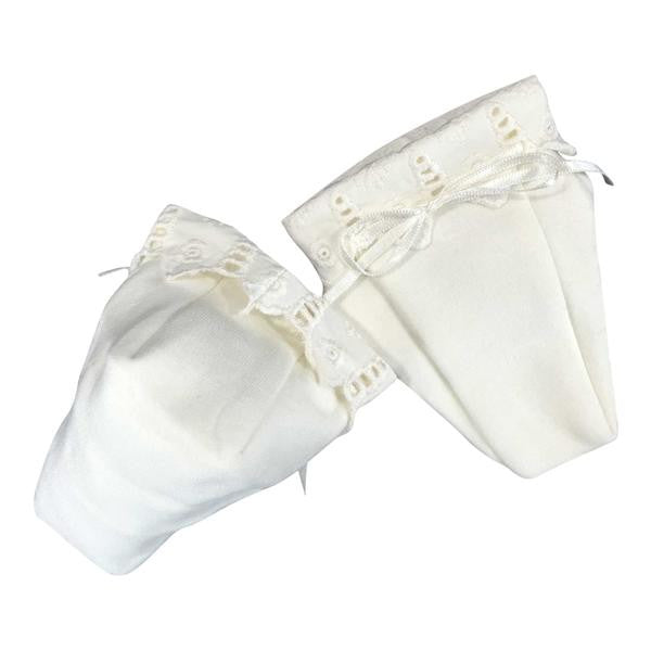 Victorian Baby Booties - Organic Cotton Lace Infant Shoes