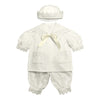 Baby Boy Sailor Outfit - Organic Cotton Knit and Eyelet Lace Gift Set