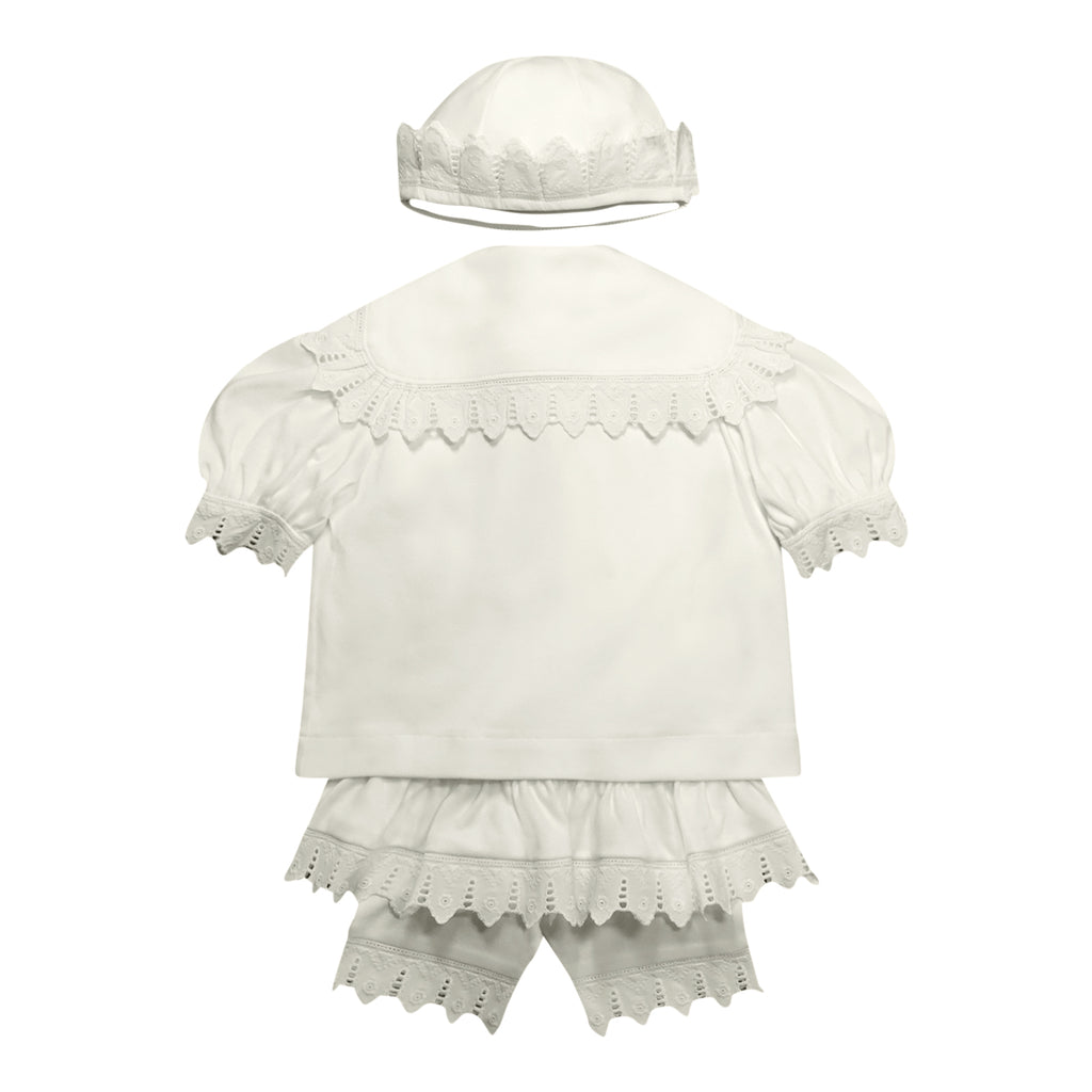 Organic childrens clothing victorianorganics sailor outfit for baby girls organic cotton knit and eyelet lace gift set negle Choice Image