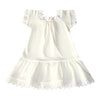 Victorian Organics White Cotton Lace Baby Chemise Dress