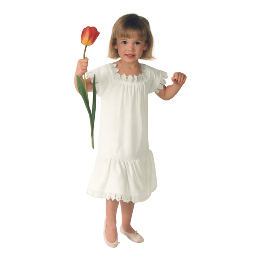 Victorian Organics White Cotton Lace Toddler Chemise Dress