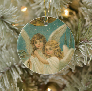Vintage Style Home Decor Collectible Christmas Ornament - Angels Ringing Bells