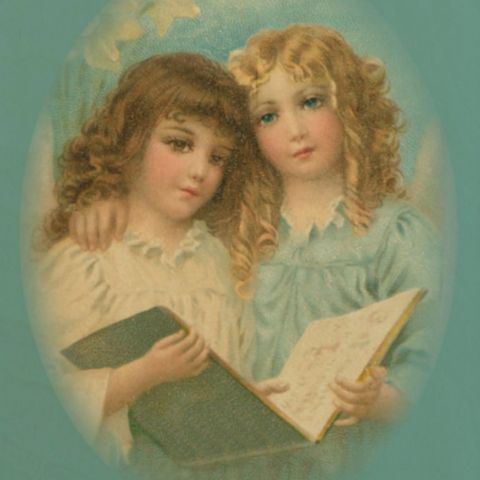 Victorian Organics Angels with Song Book Wood Wall Art Home Decor