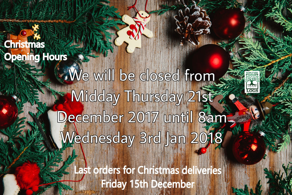 Home Farm Logs Xmas Opening Hours