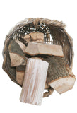 Basket of logs for the fire