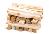 "Starter Pack: Wood Burner - 1 x Builder Bag of Hardwood Logs, 3 x Nets of 8"" Kindling, 5 x Natural Firelighter boxes"
