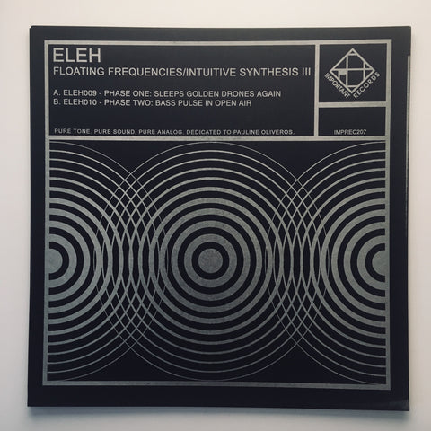 ELEH - Floating Frequencies III - Letterpress cover print